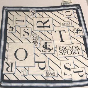 """Escada Sport NEW w/tags 17""""x 17"""" silk scarf"""